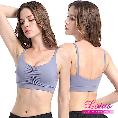運動內衣 修飾胸型飽滿托提無鋼圈內衣-微醺藍 LOTUS