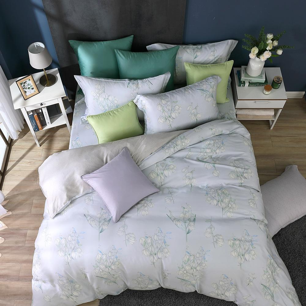 鴻宇 雙人床包薄被套組 天絲300織 莎漫 台灣製