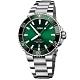 Oris豪利時 Aquis 時間之海潛水300米日期機械錶-綠水鬼x銀/43.5mm product thumbnail 1