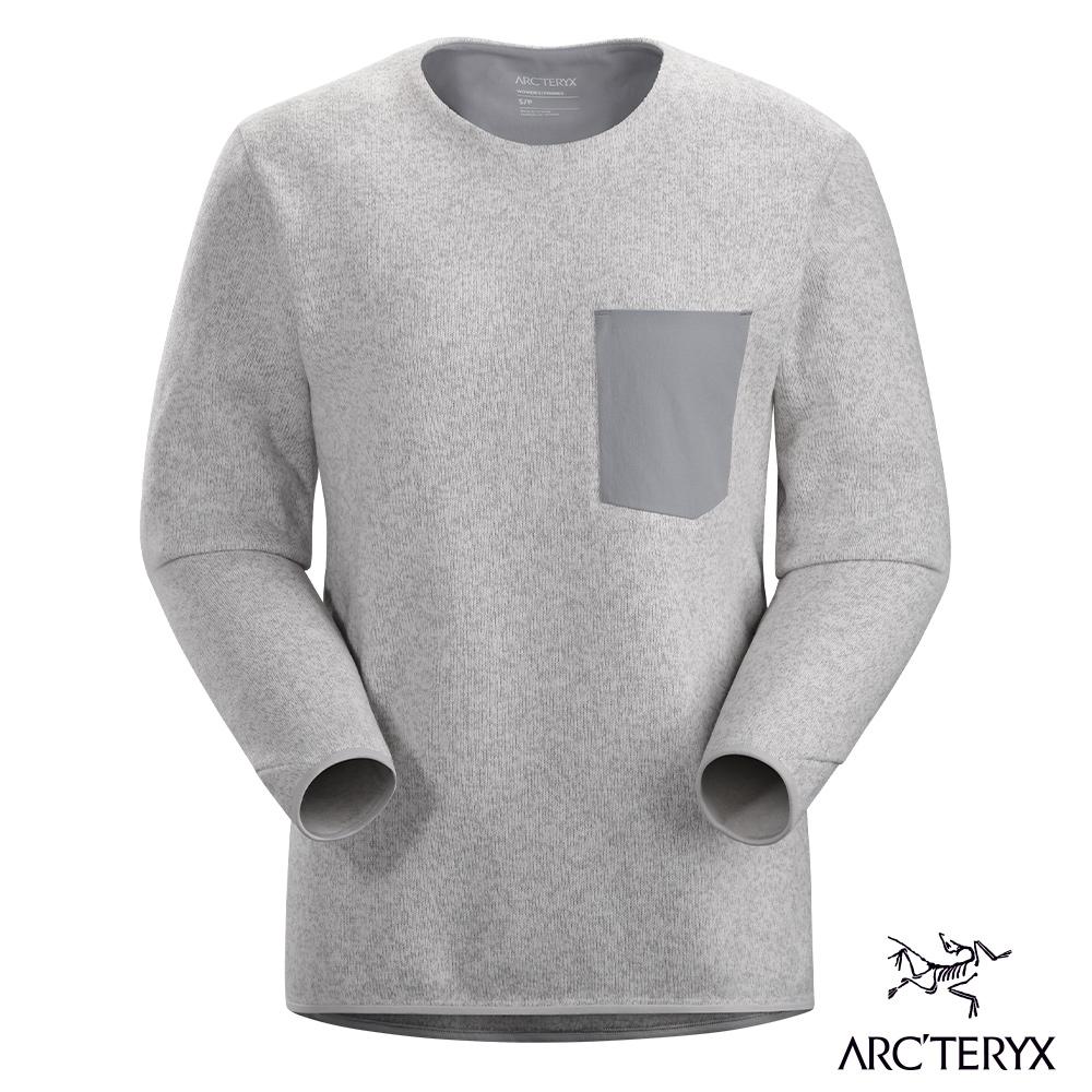 Arcteryx 始祖鳥 女 Covert 針織刷毛套頭衫 灰白