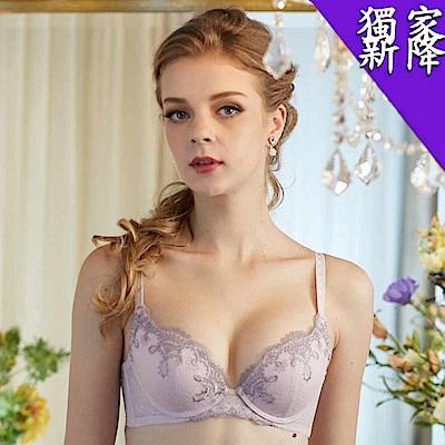 華歌爾 時尚歐風B-D罩杯內衣(冰晶紫)完美包覆