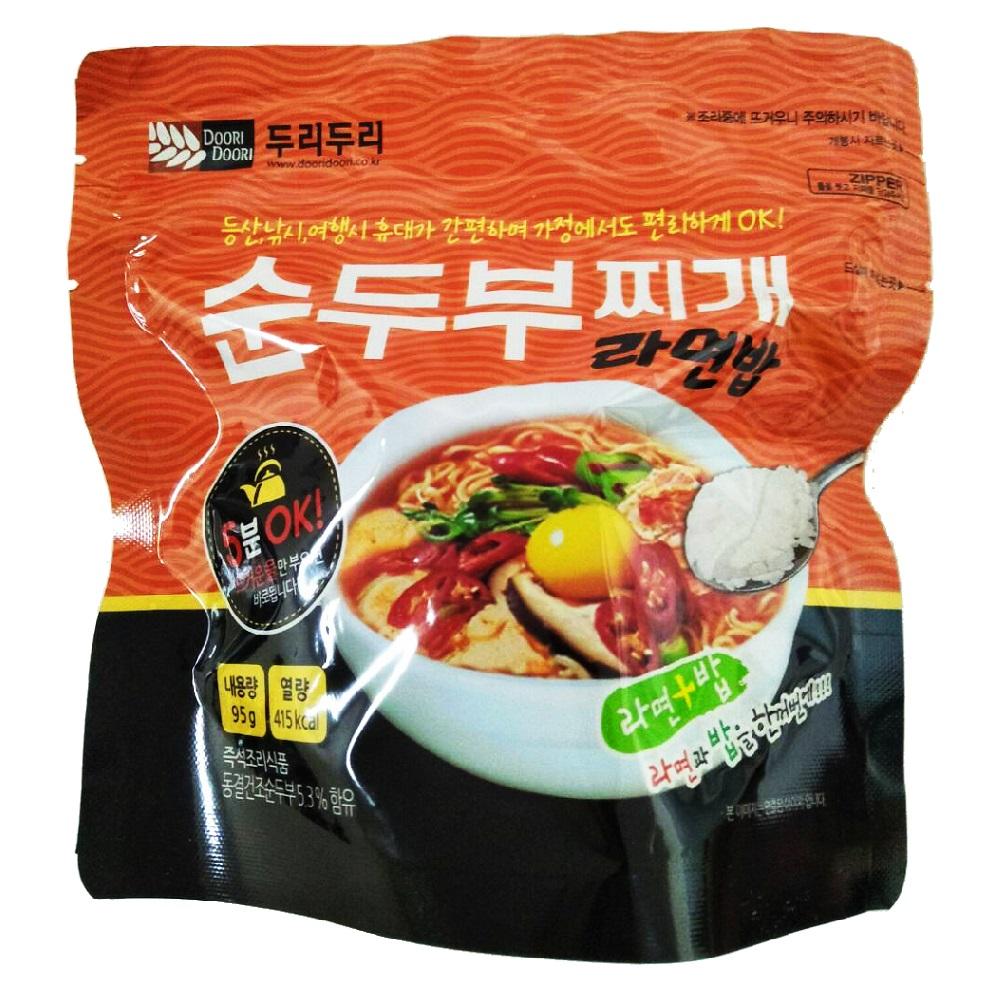 DOORI DOORI 泡飯+泡麵 - 韓式辣豆腐口味  ( 95g/包 )