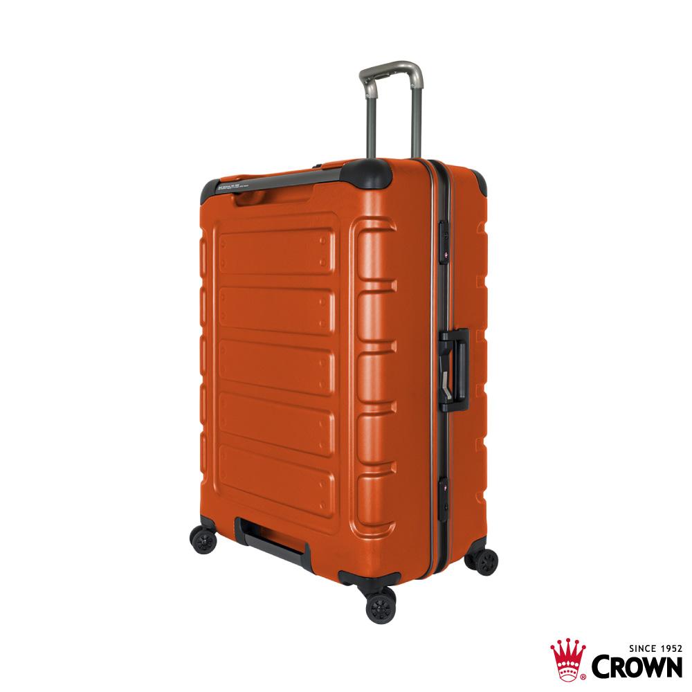 CROWN 皇冠 30吋鋁框箱 閃橘色 悍馬箱 獨特箱面手把 行李箱 product image 1