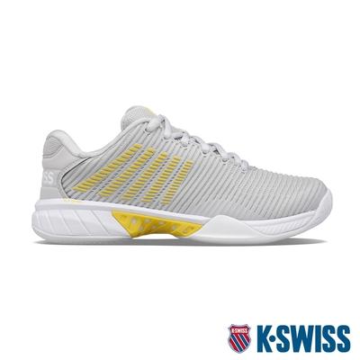 K-SWISS Hypercourt Express 2 透氣輕量網球鞋-女-灰/黃