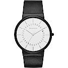 SKAGEN Ancher 創意日期石英手錶(SKW6243)-白x黑/40mm