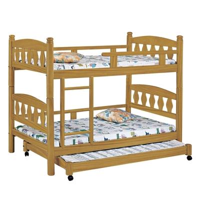 文創集 諾斯賽  現代3.5尺單人實木雙層子母床台組合(不含床墊)-113.6x200x154.53cm免組