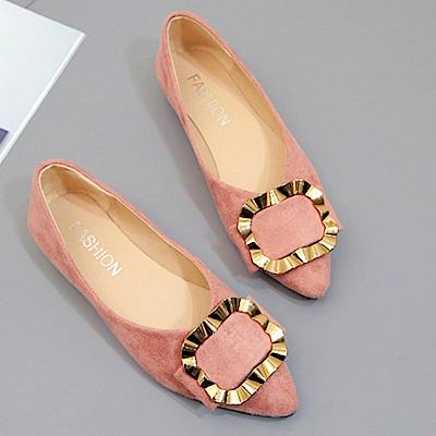 韓國KW美鞋館 歡樂單品絕美經典平底鞋-粉色