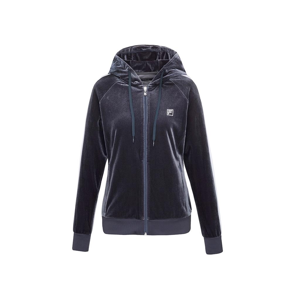 FILA 女針織外套-灰色 5JKU-5605-GY