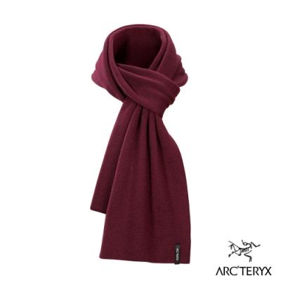 Arcteryx 始祖鳥 羊毛圍巾 印茄紫