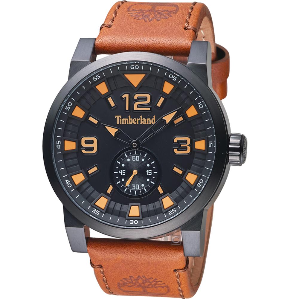 Timberland 捍衛任務時尚手錶(TBL.15475JSB/02A)黑x咖啡46mm
