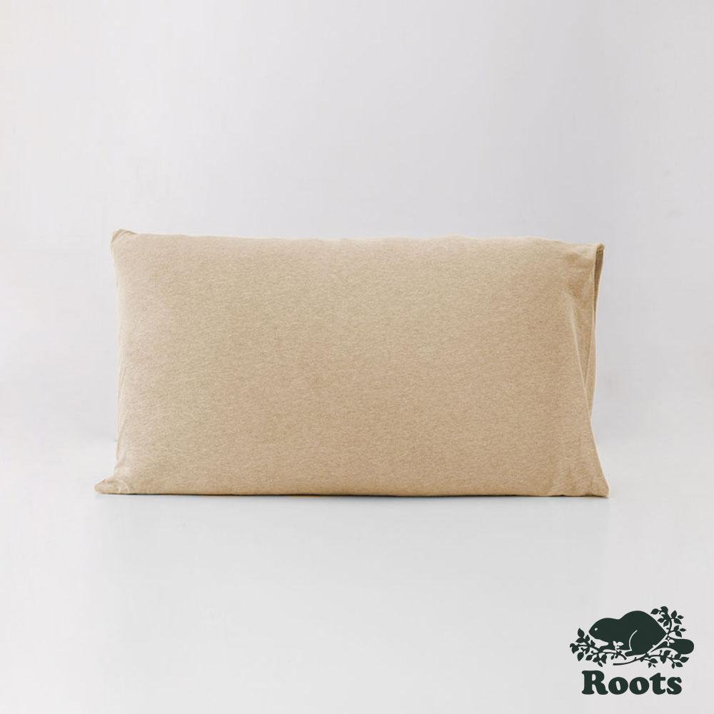ROOTS有機棉枕套(一組二個)-卡其