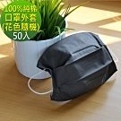 LooCa(50入)100%純棉口罩外套組-花色隨機