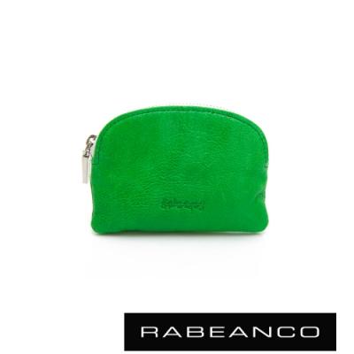 RABEANCO 迷色彩羊皮系列亮彩拉鍊零錢包 綠