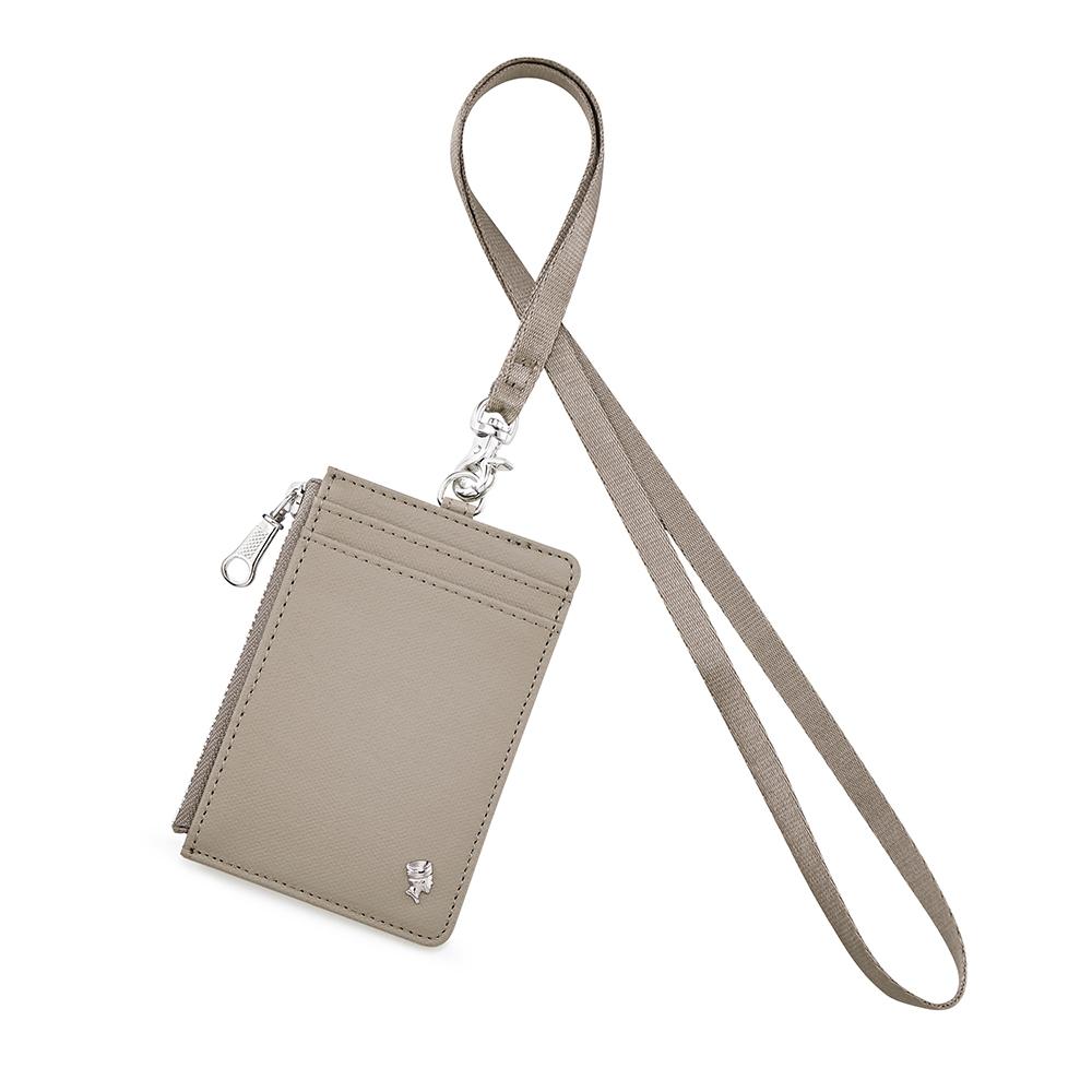 PORTER - 輕甜繽紛SPIRIT氣質證件套 - 暖深灰(銀)