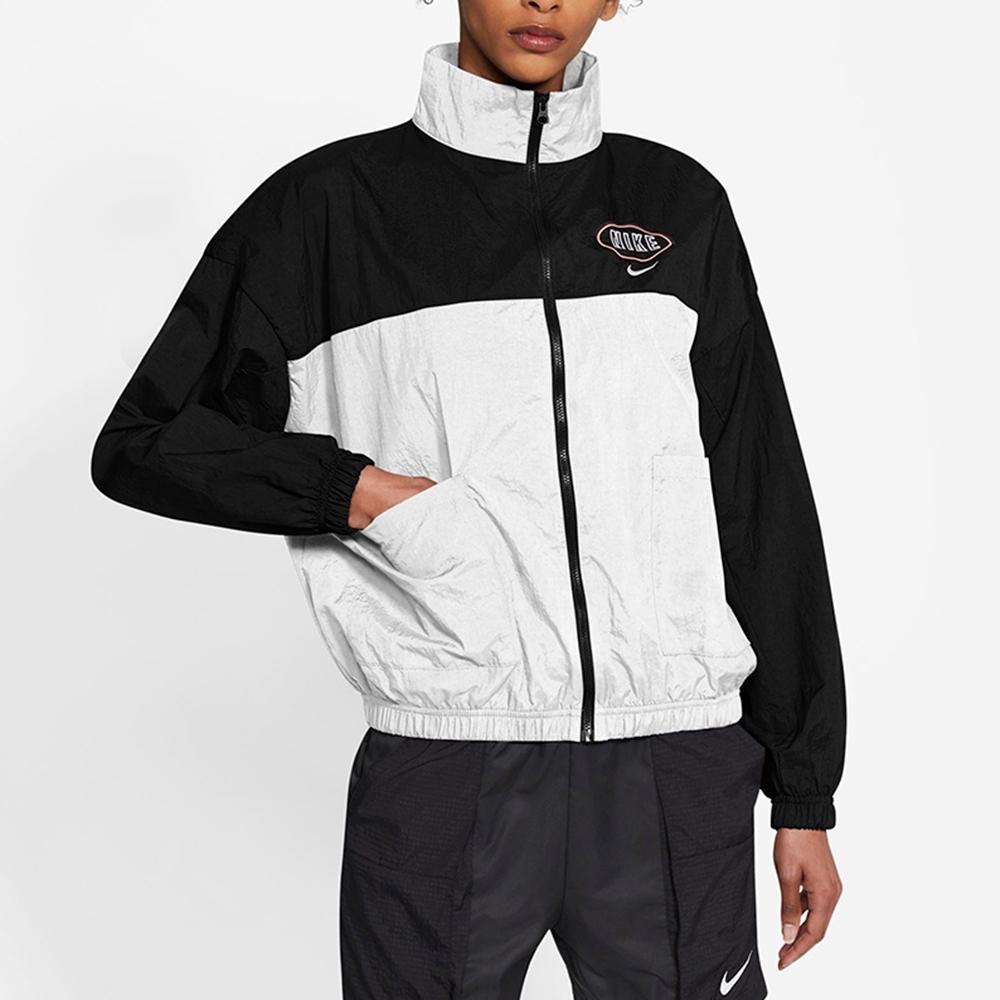 NIKE 外套  風衣外套 運動 慢跑 訓練 女款 黑白 CZ8319010 AS W NSW VARSITY JKT