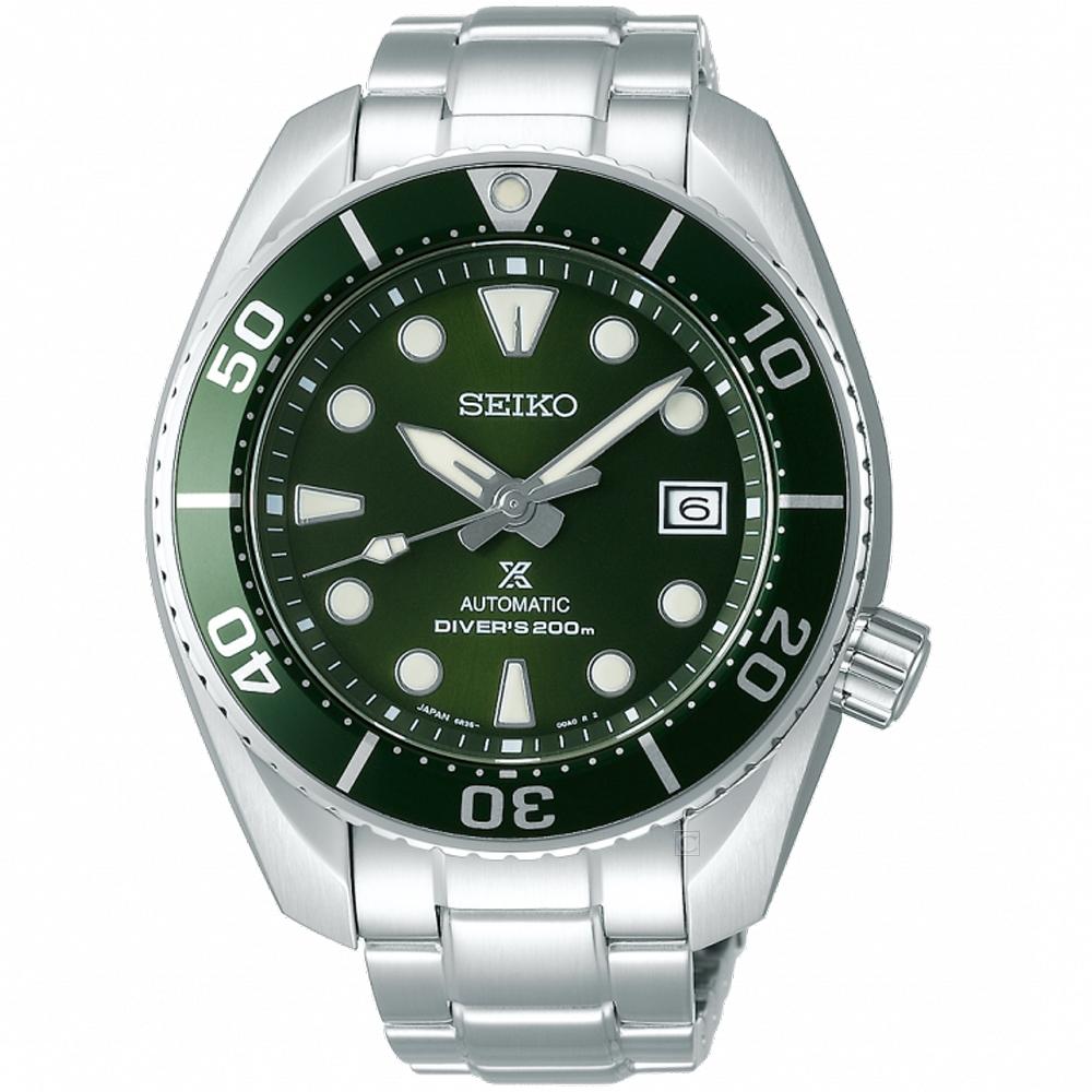 SEIKO精工PROSPEX系列相撲廣告款潛水機械錶(SPB103J1)-綠
