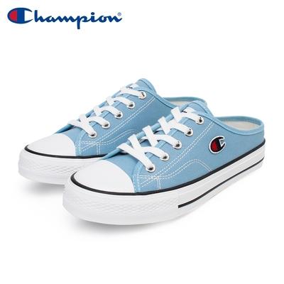 【Champion】女 帆布鞋 穆勒鞋 CANVAS SLIP-藍(WSLS-1014-60)