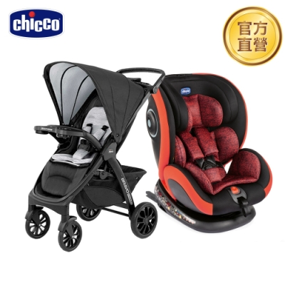 chicco-Seat 4 Fix Isofix安全汽座+Bravo極致完美手推車特仕機能air版(卓越勁黑)