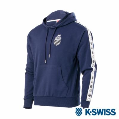 K-SWISS Tape Swearshirts SNOOPY連帽上衣-男-深藍