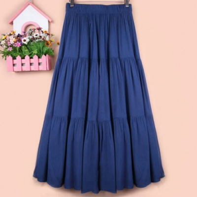 【KISSDIAMOND】韓版收腰顯瘦莫代爾蛋糕裙(3色F/輕熟女/氣質款/KDD-1606)