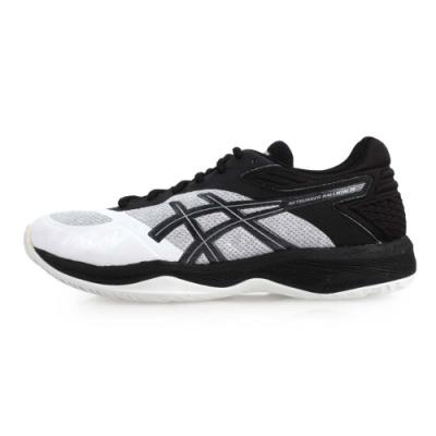 ASICS NETBURNER BALLISTIC FF 男排羽球鞋 白灰黑