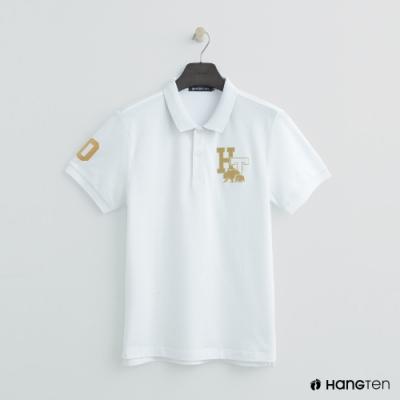 Hang Ten-男裝 -logo刺繡POLO杉-白