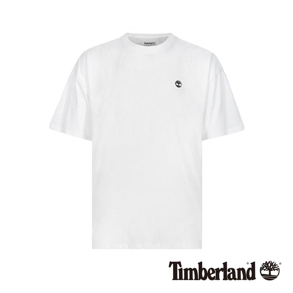 Timberland 男款白色後背品牌LOGO短袖T恤 A1XPF