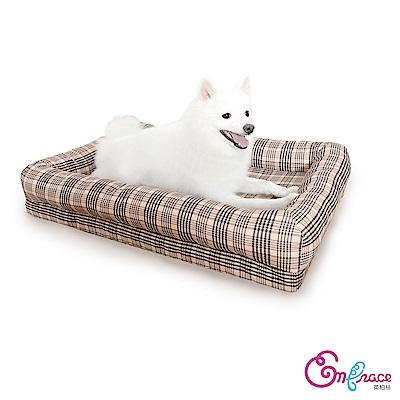 Embrace英柏絲 典雅格紋-小-60x40cm寵物床 記憶床墊