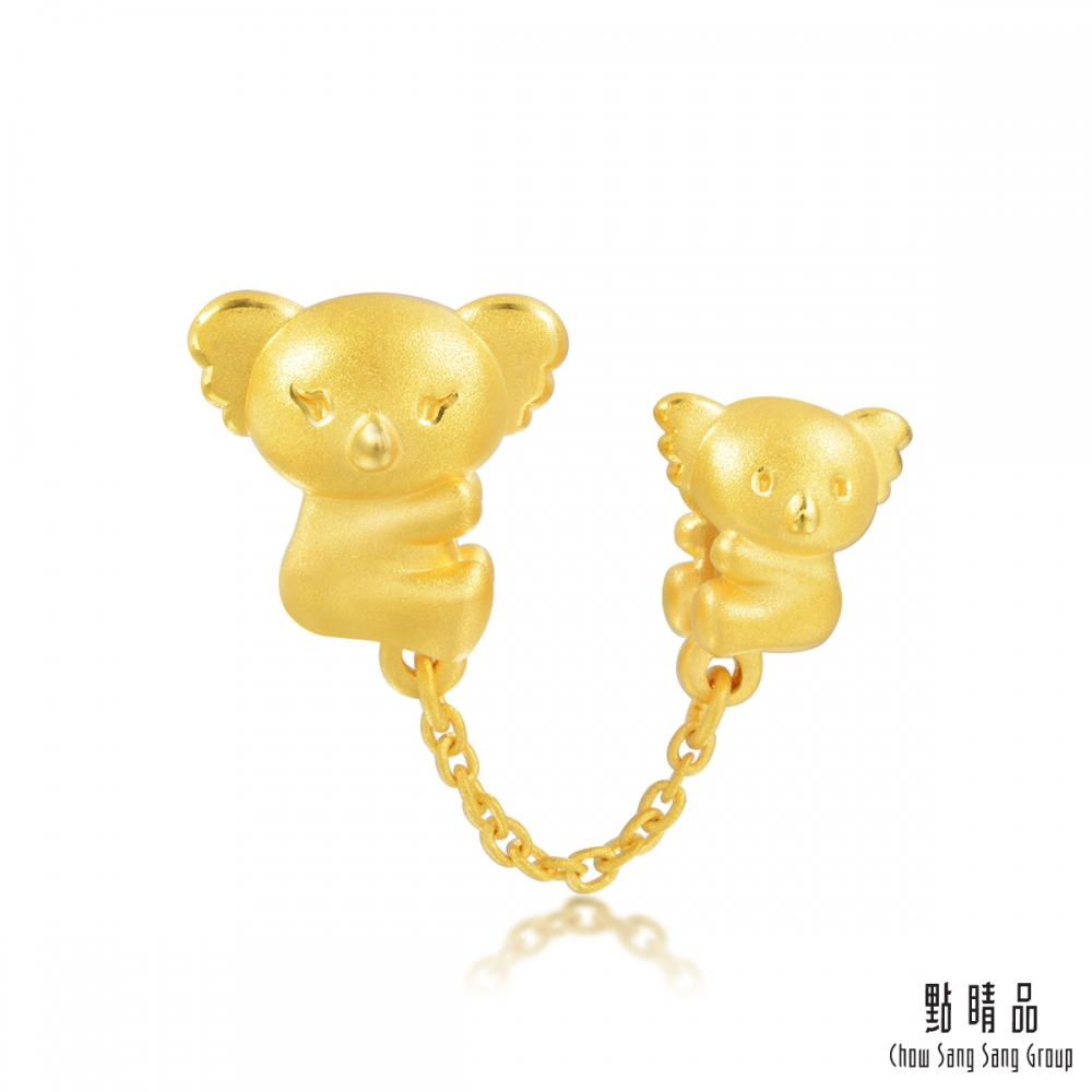 點睛品 Charme 幸福相擁的無尾熊母子 黃金串珠