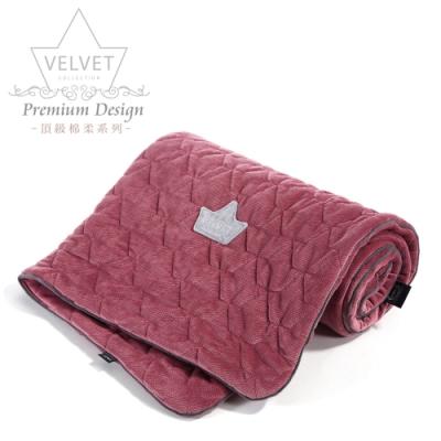 La Millou Velvet頂級棉柔系列-標準款暖膚毯80x100cm(舒柔酒紅)