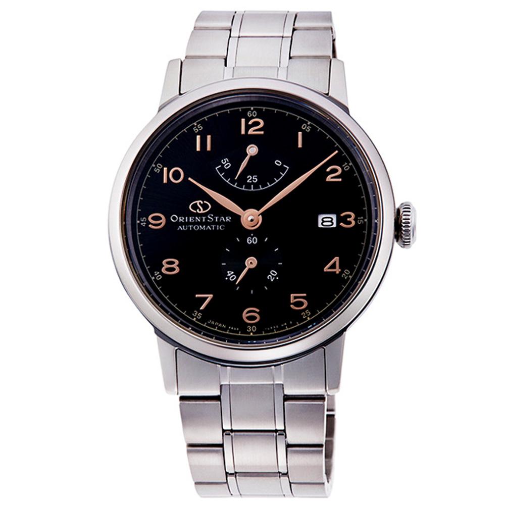 ORIENT東方STAR東方之星機械錶手錶-黑X銀/39mm