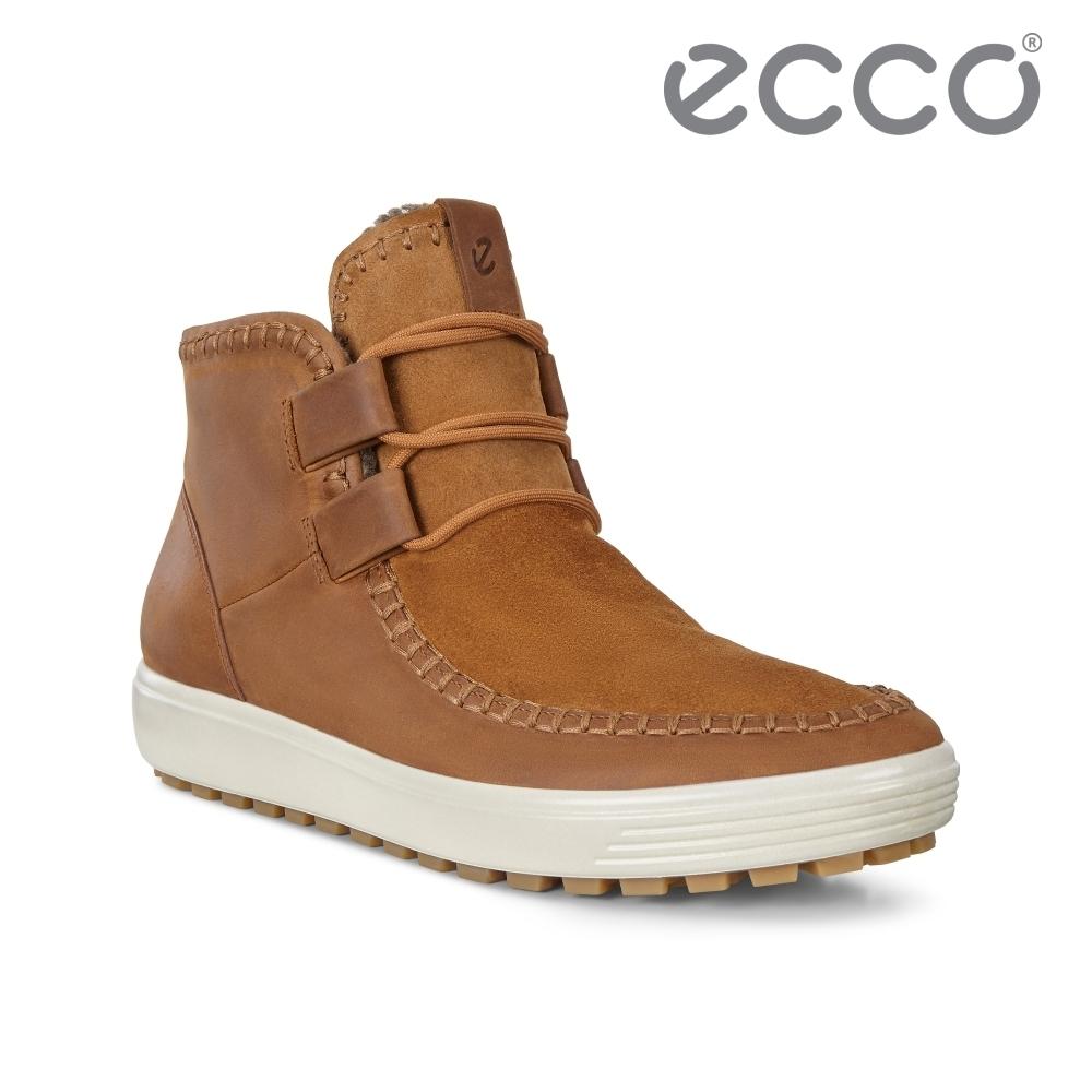 ECCO SOFT 7 TRED W 冬季輕盈休閒保暖短靴  女鞋 琥珀色