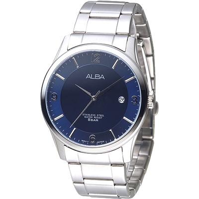 ALBA 君士坦時尚腕錶-藍(AS9C23X1)/36mm