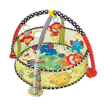 美國 Infantino 3 合 1伴我成長兒童活動健身架/球池 二用玩具組