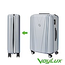 VoyLux伯勒仕-VITALITY系列V型26吋硬殼收摺專利摺疊行李箱-灰色 3788608