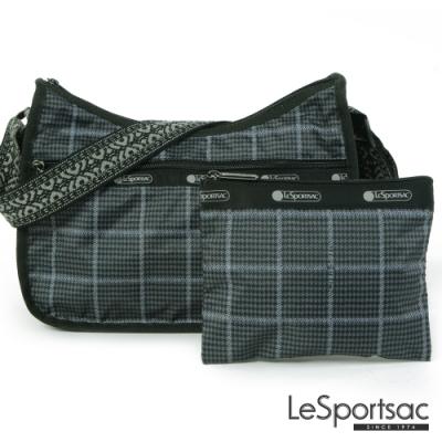 LeSportsac - Standard側背水餃包/流浪包-附化妝包 (冬季格紋)