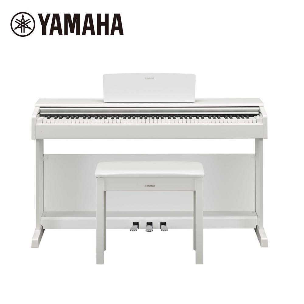 [無卡分期-12期] YAMAHA YDP-144 WH 數位電鋼琴88鍵滑蓋 典雅白色款