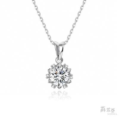 SOPHIA 蘇菲亞珠寶 - 費洛拉 1.00克拉 18K白金 鑽石項鍊