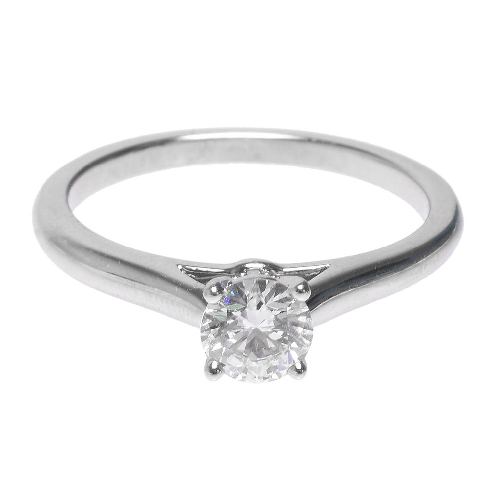 Cartier  SOLITAIRE 1895系列圓型四爪0.35克拉鑽石鉑金戒指