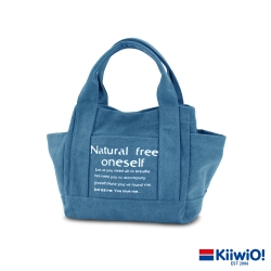 Kiiwi O! 大容量百搭系列帆布托特包 SASHA 水洗藍 (速)