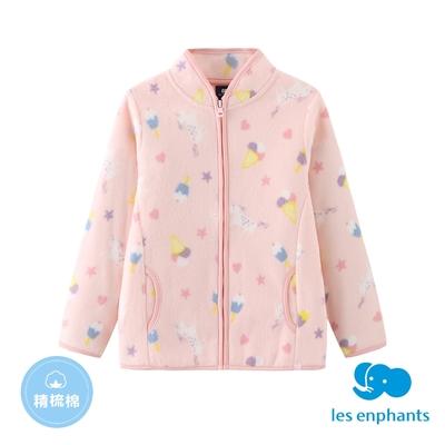 【麗嬰房】EASY輕鬆系列  小童印花外套-粉色(86cm~130cm)