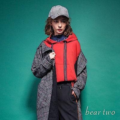 beartwo 素色基本款抽繩連帽T恤(二色)