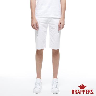 BRAPPERS 男款 HC Cargo系列-中腰彈性五分短褲-白
