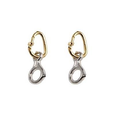SAC #012 鍍金/銀耳環一對 鉤環+八字環