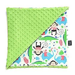 La Millou 單面巧柔豆豆毯(加大款)嬰兒毯寶寶被毯-歡樂拉拉猴(香草綠薄荷)
