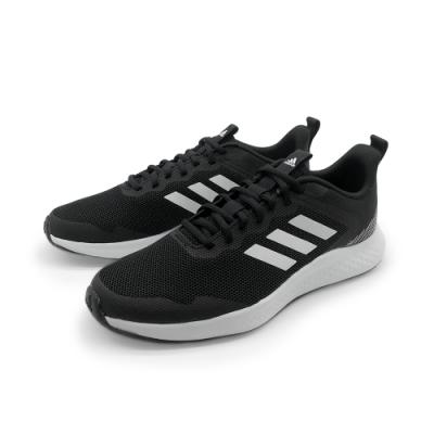 adidas 慢跑鞋 健身 訓練 運動鞋 男鞋 黑白 FW1703 FLUIDSTREET