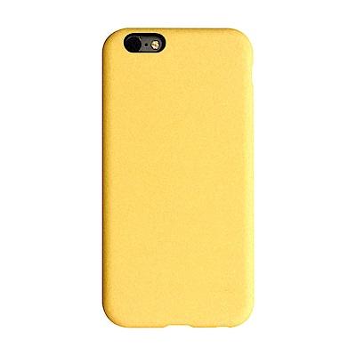 【TOYSELECT】iPhone SE2/7/8 文藝液態矽膠全包防摔殼:檸檬黃