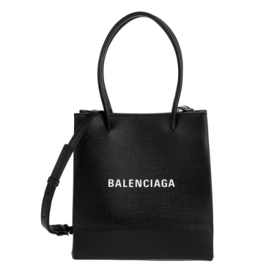 Balenciaga 新款Shopping Phone Holder XXS 黑底白字Logo手提/肩背包