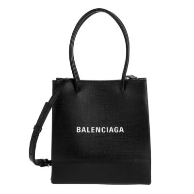 Balenciaga 新款Shopping Phone Holder XXS 黑底白字Logo手提/肩背包