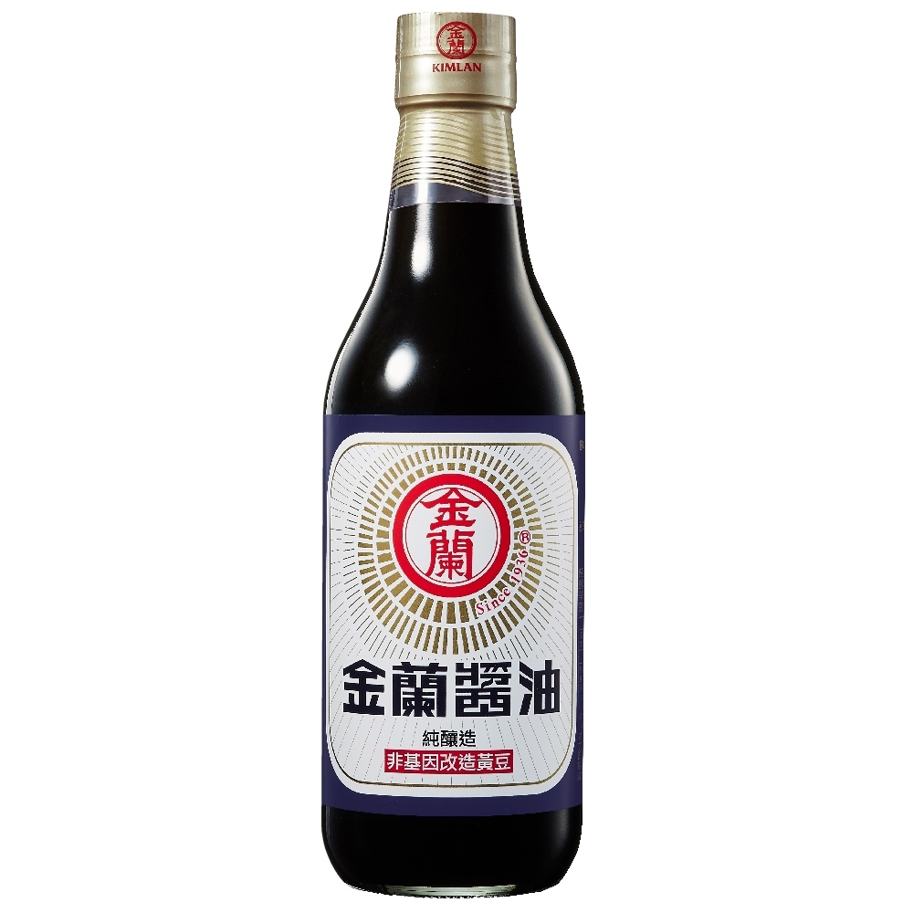 【金蘭食品】金蘭醬油 590ml